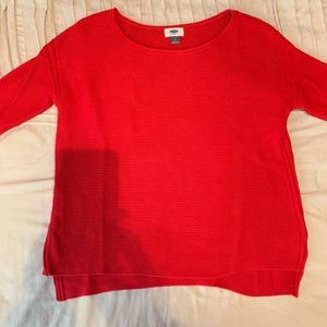 Red knit old navy sweater